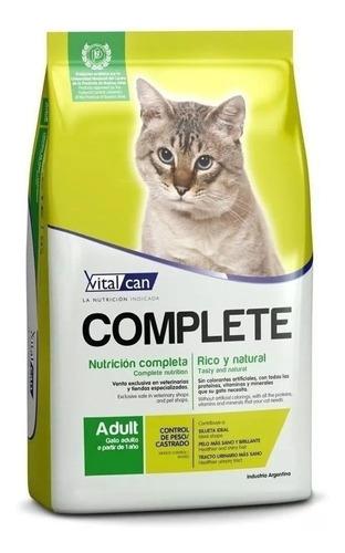 Alimento Vitalcan Complete Control de Peso/Castrados para gato adulto sabor mix en bolsa de 1.5kg