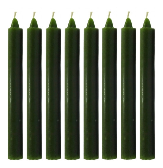 Vela Quilo Palito Colorida Verde 1 Kg 28 Velas Coloridas