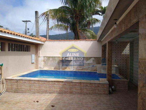 Casa 3 Dorms Com Piscina...na Quadra Da Praia,apenas 450 Mil. - Vant4651