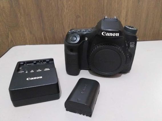 Câmera Canon 70d Com Lente 18-135 Mm E Bateria