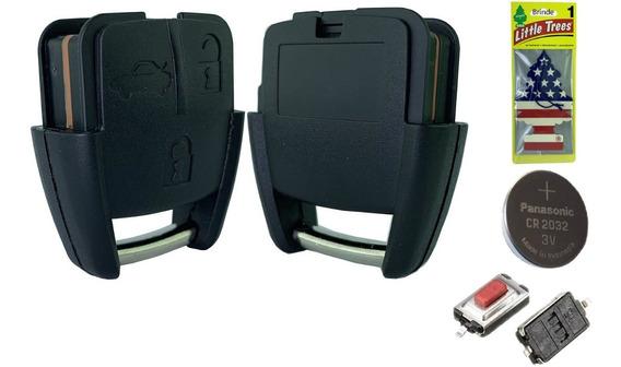Capa Controle Gm 3 Botoes + Bateria +brinde Cheirinho Carro