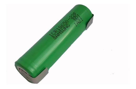 Kit 3 Bateria Samsung Litio Icr18650 22f +terminal De Solda