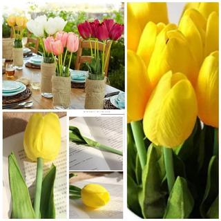 Tulipan Simil Natural Decoración Excelente Calidad Eventos