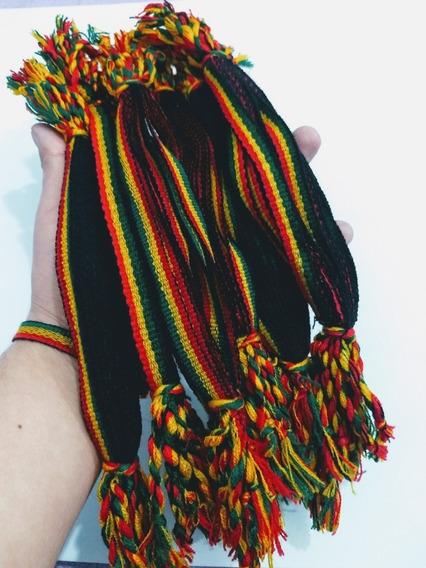 Pulseira De Reggae 20 Dúzia Jamaica Hippie Moda Unissex