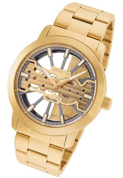 Relógio Invicta Objet D Art 25270 B.ouro 18k 45mm