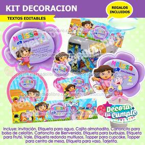 Kit Imprimible Dora La Exploradora Y Diego Go Recuerdos Cotillon