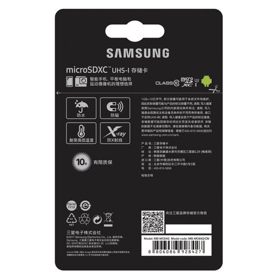 Samsung Micro Sd Evo Plus 64gb 100mb/s U3
