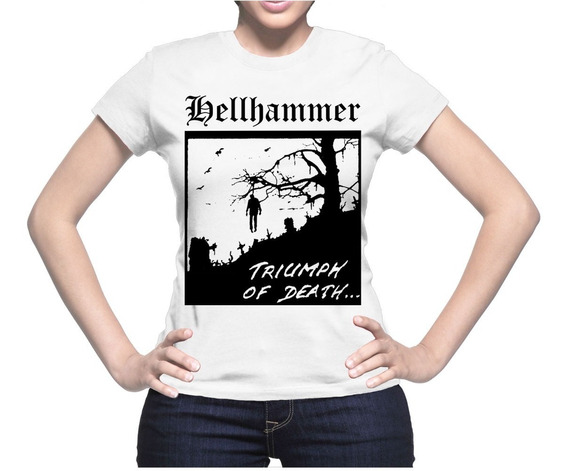 Acdc Blusa Hellhammer, Rock Metal, Unitalla