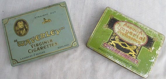 Antiguas Latas Cigarrillo Inglesas Abdula Waverley #l