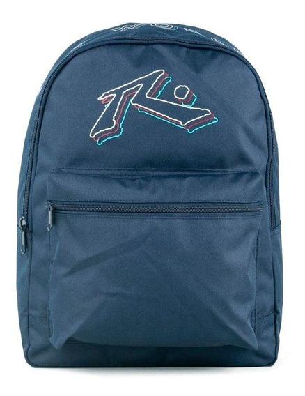 Mochila Rusty Hombre Mujer Escolar Wax Backpack Azul