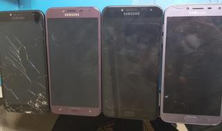 Lote Com 04 Celular Samsung J4 J400m Com Display Quebrado