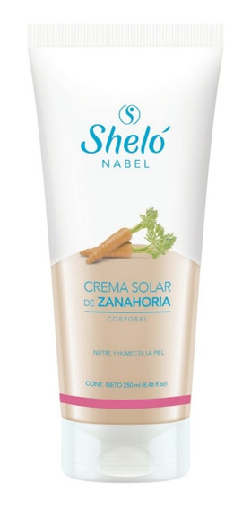 Crema Solar Zanahoria Broncear Naturalmente Shelo /sa