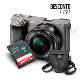 Câmera Sony A6000 Kit 16-50mm + Sd32gb + Case + Tripé + Nfe