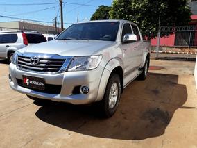 Toyota Hilux Srv 2015 Prata Flex