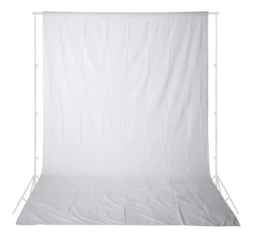 Imagem 1 de 1 de Fundo Infinito Estúdio Branco Algodão Tecido Muslin 2,8x4,8m