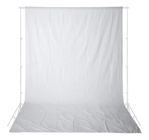 Fundo Infinito Estúdio Branco Algodão Tecido Muslin 3x5m
