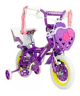 Bicicleta Forest Rock Star Rodado 12 Nena Niña Reforzada