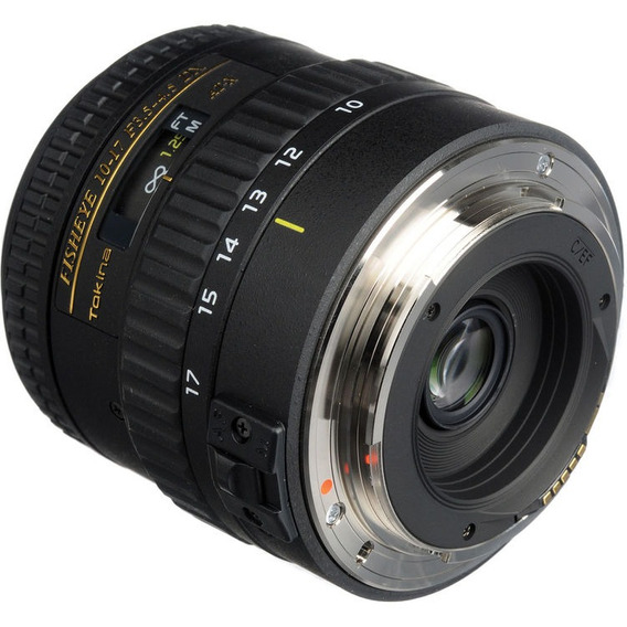 Objetiva Tokina At-x 10-17mm Fisheye F3.5-4.5 Dx Para Canon