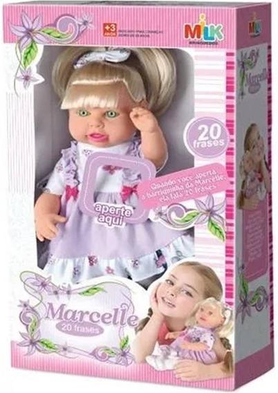 Boneca Bebê Marcelle Menina Fala 20 Frases - Milk Brinquedos