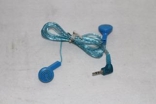 Fone De Ouvido Azul P1 P/ Celular Motorola V300/v60 Pequeno
