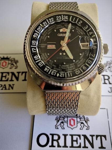 Orient Watch World Diver Jumbo Raro Coleção Cal 1942 Impecáv