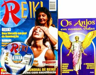 Kit 2 Revistas- Reiki- Cd Especial Ener. Curativas/ Os Anjos