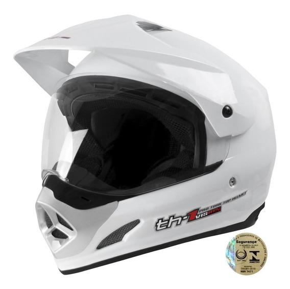 Capacete Moto Fechado Masculino Top Helmet Branco Pro Tork