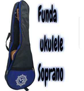 Funda Reforzada Para Ukulele Soprano Azul, Rojo Y Amarillo