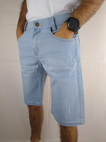 Bermuda Jeans Masculina Short Jeans Masculino Com Elastano