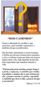 Folhetos Para Evangelização - Dois Caminhos (1000)