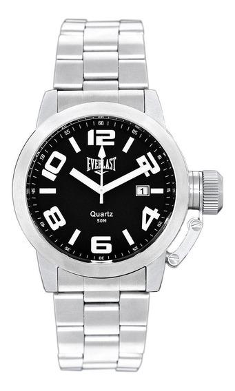 Relógio Pulso Everlast Unissex Aço Calendário E053
