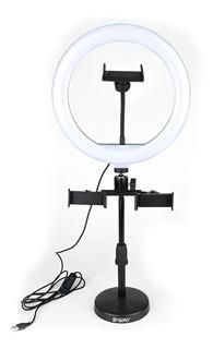 Trípode Mini Selfie Aro Anillo Luz Led Usb 25cm Usb Celular