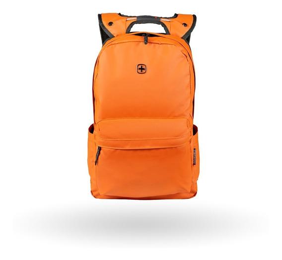 Mochila Wenger Photon Naranja Porta Laptop De 14 Pulgadas