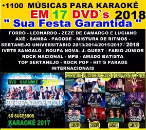 2018 Kit 17 Dvds Para Cantar Musicas Pop Rock, Sertanejo Mpb