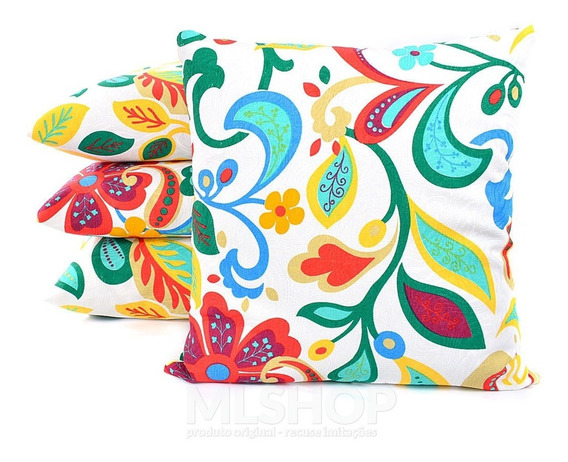 Almofadas Decorativas Coloridas 45cm De Silicone 4 Unidades.