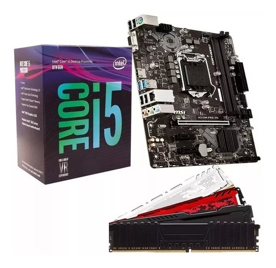 Kit 8º Geração Intel Core I5 8400 + H310m + 4gb Ddr4 2400mhz