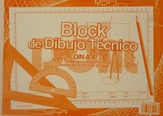 Block Rotulado Papel Bond Din A4 (dibujo Tecnico)