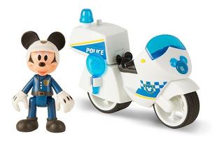 Mickey Policia Moto Luz Y Sonido Aventuras Sobre Ruedas