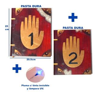 Gravity Falls Diario 1 2 Pasta Dura + Pluma Lampara Invisib