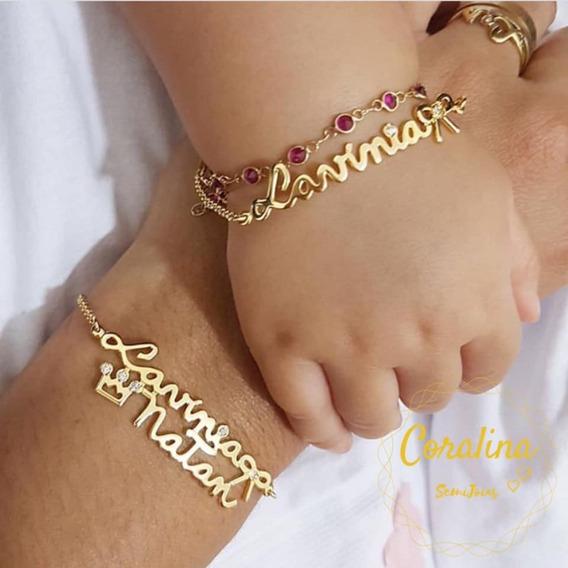 Conjunto Mamãe E Bebê, Pulseira + Anel Ou Pulseura