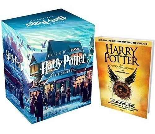 Box Coleção Harry Potter + Criança Amaldiçoada - 8 Livros #