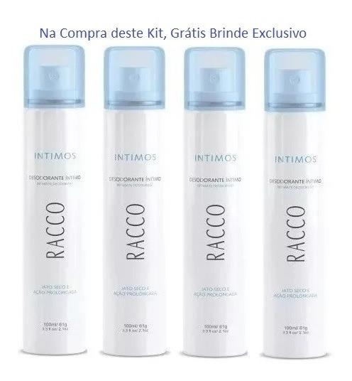 4 Desodorante Ìntimo De Mala Jato Seco Racco Fem. 20% Off !!