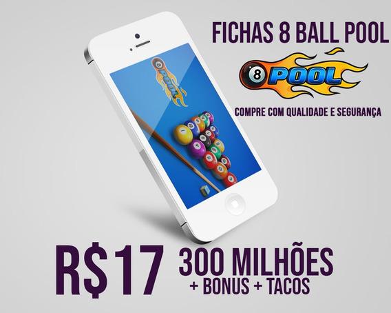 8 Ball Pool Fichas 8 Ball Pool 310 Milhões E Tacos