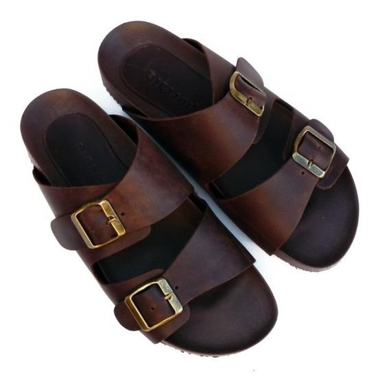 Sandalias Zapatos Mujer Birken Cuero Engrasado Original