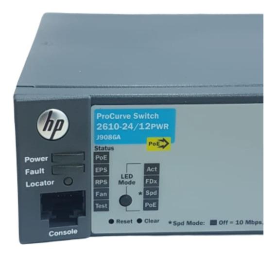 Switch Hp 2610-24/12pwr J9086a | 10/100 | Ppoe | 2giga| 2sfp
