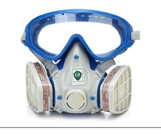 Mascarilla Respirador Con Goggles. Filtra Vapores Y Polvos.
