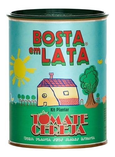 Imagem 1 de 3 de Kit Plantar Bosta Em Lata Tomate Cereja - 330 G