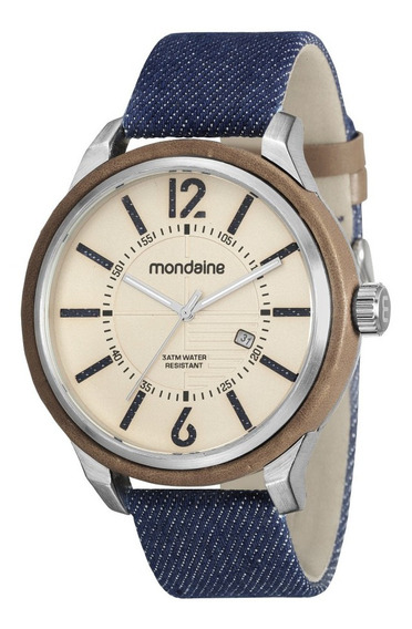 Relógios Masculinos Mondaine 89010g0mvnd1 Jeans Original Nfe