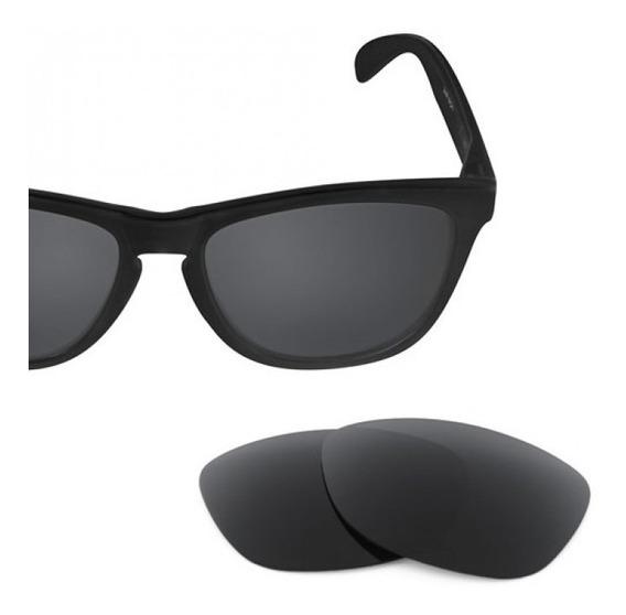 Lente Black Preta Polarizada Para Óculos Oakley Frogskins
