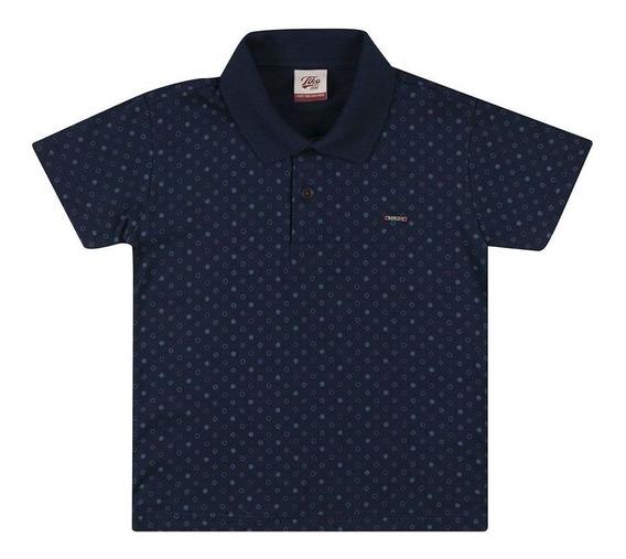 Camisa Polo Masculina Tholokko B51831 Azul Escuro Tamanho 3